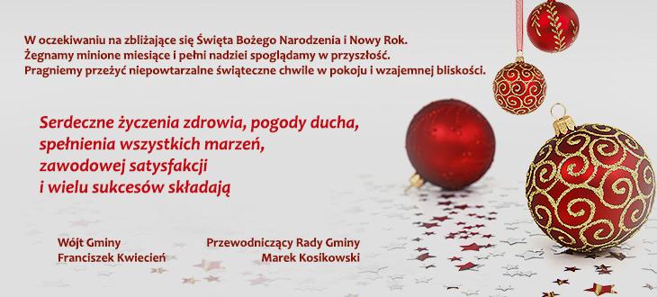 Życzenia z okazji Świąt Bożego Narodzenia 2013