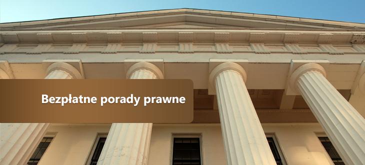 Ogłoszenie - Bezpłatne porady prawne
