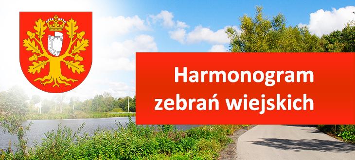 Harmonogram zebrań wiejskich w okresie 3 kwietnia – 6 kwietnia 2017 r.