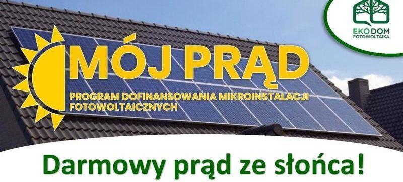 """Ulotka informacyjna dla mieszkańców """"Mój Prąd"""""""