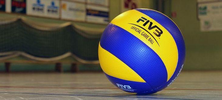 Wykadrowana grafika przedstawiająca piłkę do siatkówki