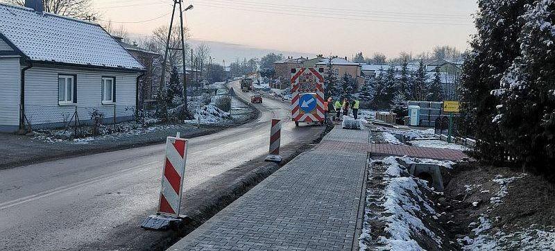 Zdjęcie chodnika podczas remontu