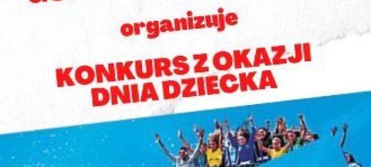 Plakat z napisem: Konkurs z okazji dnia dziecka