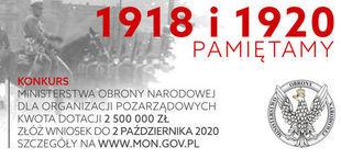 "Konkurs ofert pod hasłem ""1918 i 1920 PAMIĘTAMY"