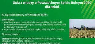 baner quia z wiedzy o Powszechnym Spisie Rolnym dla szkół