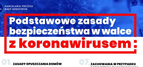plakaty informacyjne covid 19