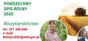 Numer telefonu i e-mail do Urzędu Statystycznego w Lublinie - Spis Rolny 2020