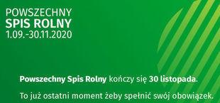 Grafika POWSZECHNY SPIS ROLNY 1.09.-30.11.2020