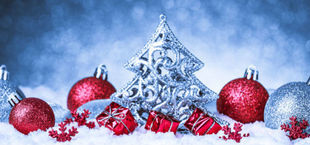 Grafika świąteczna bombki, śnieg choinka