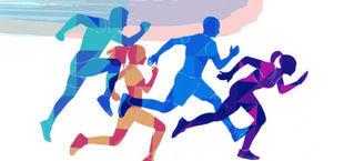 Ilustracja biegaczy