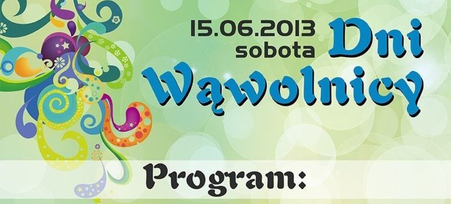Program Dni Wąwolnicy 2013r.