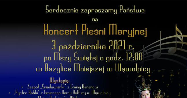 Koncert  Pieśni Maryjnej