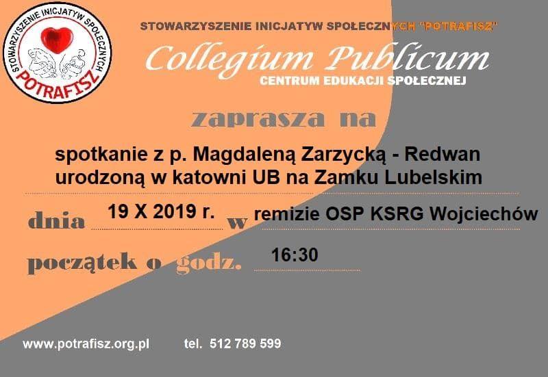 Spotkanie z p. Magdaleną Zarzycką - Redwan w Wojciechowie