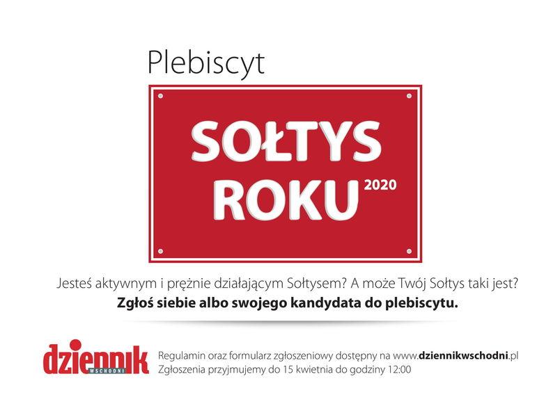 Plebiscyt Sołtys Roku 2020 - zgłoś swojego kandydata