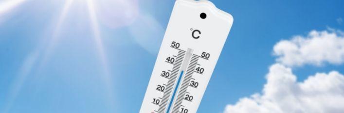 Słońce i termometr