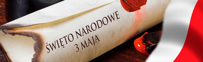 Zaproszenie na obchody Narodowego Święta Konstytucji 3 Maja.