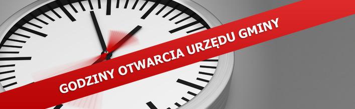 Ogłoszenie - Godziny Otwarcia Urzędu Gminy  w dniach 15 grudnia oraz 24 grudnia 2012