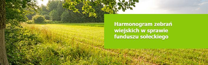 Harmonogram zebrań wiejskich w sprawie funduszu sołeckiego