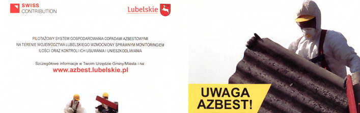 Uwaga azbest Pilotażowy system gospodarowania odpadami azbestowymi na terenie Województwa Lubelskiego