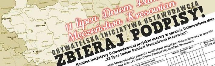 Poprzyj inicjatywę - 11 lipca Dniem Męczeństwa Kresowian