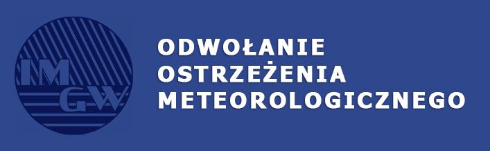 Odwołanie ostrzeżenia meteorologicznego wydanego dnia 23.07.2014 r.