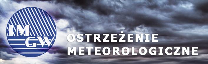 Ostrzeżenie o burzach z gradem  z dnia 11.08.2014