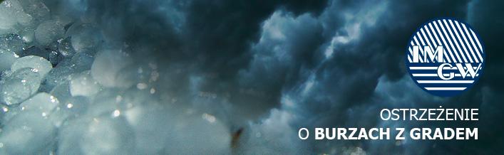 Ostrzeżenie o burzach z gradem z dnia 27.07.2016 r.