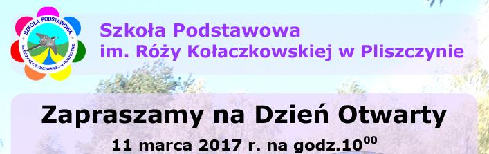 Dzień otwarty w Szkołe Podstawowej im. Róży Kołaczkowskiej w Pliszczynie