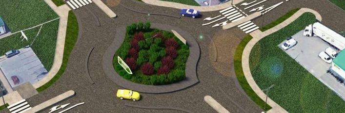 Rozbudowa skrzyżowania DK 82 z drogą gminną nr 112402L (ul. Dębowej) i drogą gminną 112421L (ul. Świerkowa) w miejscowości Turka (rondo turbinowe)