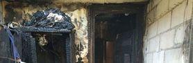 Zdjęcie środka spalonego domu