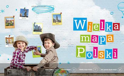 Plakat: Wielka mapa polski