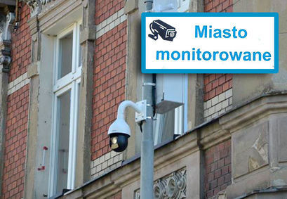 Monitoring miejski i napis Miasto monitorowane