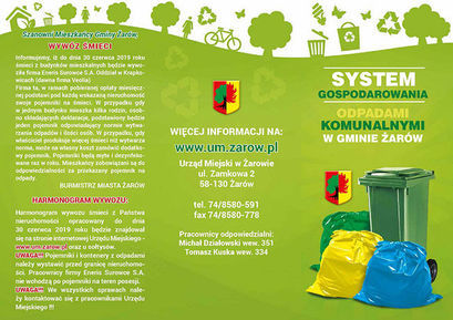 Strona ulotki System Gospodarowania Odpadami komunalnymi