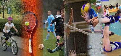 Kolaż ze zdjęć dziedzin sportowych