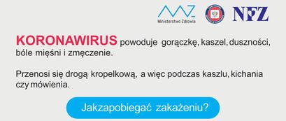 Grafika: KORONAWIRUS powoduje gorączkę, kaszel, duszności, bóle mięśni i zmęczenie. Przenosi się drogą kropelkową, a więc podczas kaszlu, kichania czy mówienia. Jakzapobiegać zakażeniu?