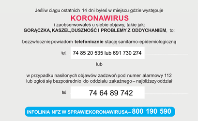Informacja Inspektora Sanitarnego w związku z pojawieniem się koronawirusa w Polsce