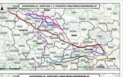 Mapa z drogami