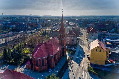 Zdjęcie na kościół z lotu ptaka
