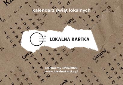 Kawałek plakatu Kalendarz świąt lokalnych LOKALNA KARTKA