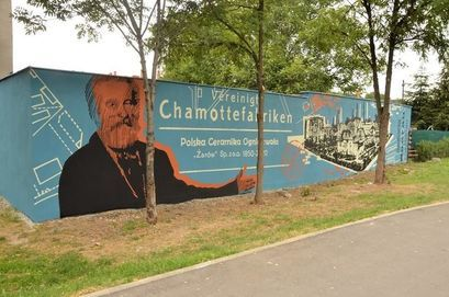 mural przy ul. Krasińskiego w Żarowie przedstawiający Carla Kulmiza