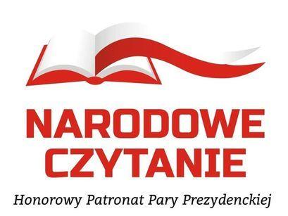 Logo NARODOWE CZYTANIE Honorowy Patronat Pary Prezydenckiej