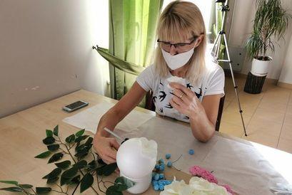 Małgorzata Miodowska - uczestniczka warsztatów w Krukowie