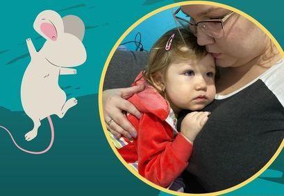 Plakat Pomoc dla Amelki zdjęcie amelki z mamą
