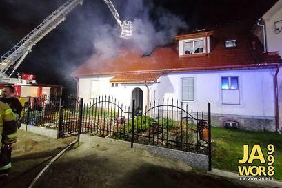 Pożar budynku w Czernicy