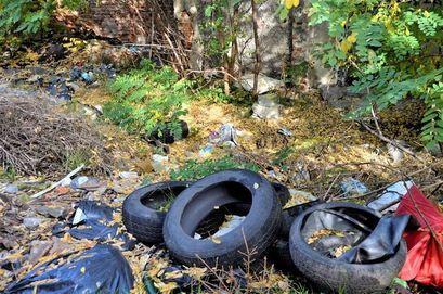 Śmieci przy Krasińskiego w Żarowie