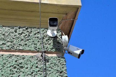 Kamera monitoringu przy budynku UM w Żarowie