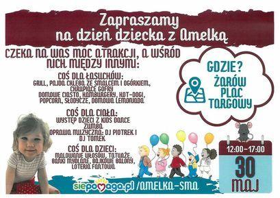 plakat Dzień Dziecka z Amelką