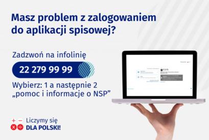 Masz problem z zalogowaniem się do aplikacji spisowej? Zadzwoń na infolinię!