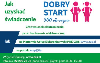 ZUS przejmuje obsługę świadczenia Dobry Start 300+