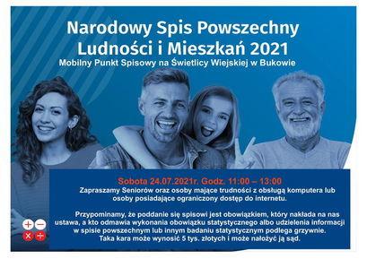 Mobilne Punkty Spisowe w Bukowie, Mrowinach i Przyłęgowie